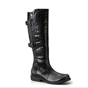 Juicy Couture black Moto combat riding boots